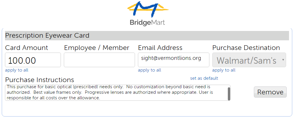 Bridgemart coupon