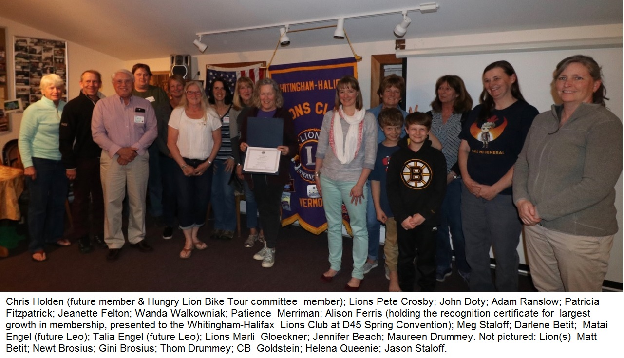 Whitingham Membership Drive photo with caption2
